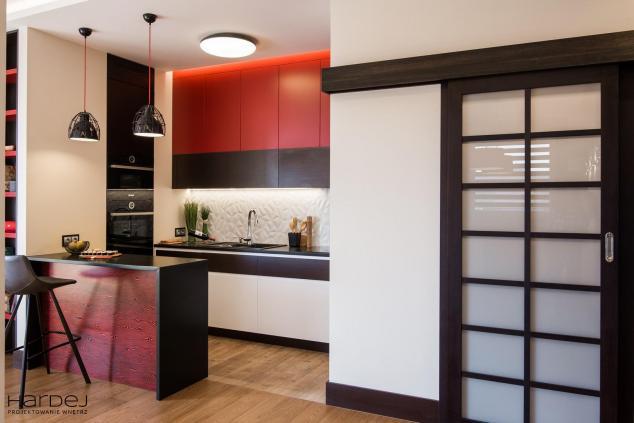 projekt wnętrza salon z kuchnią 2