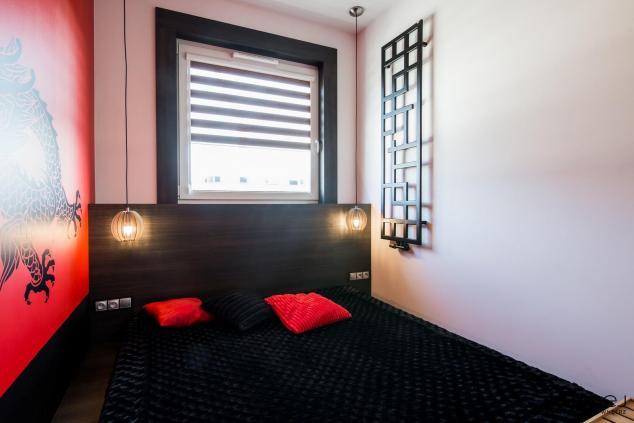 projekt wnętrza sypialnia styl japoński