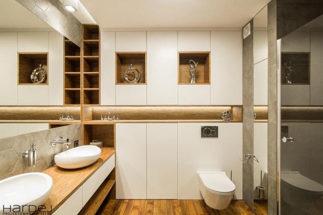 projekt wnętrza łazienka blaty drewniane 1