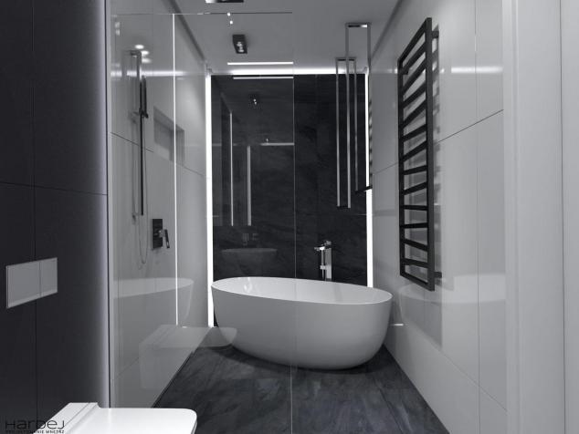 aranżacja czarna łazienka