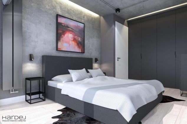 aranżacja sypialnia w stylu industrialnym