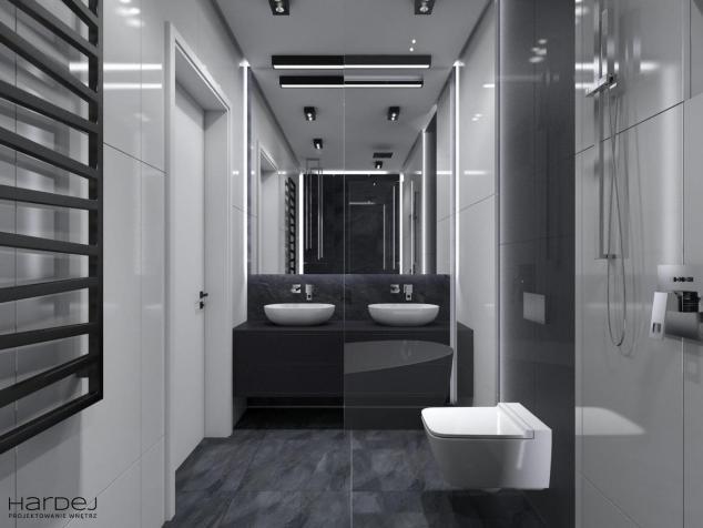 łazienka styl art deco czarne meble