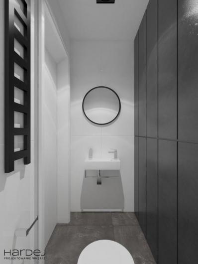 projekt łazienka biało szara 2