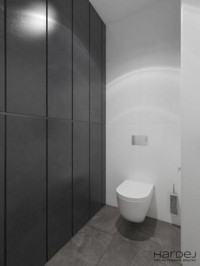 projekt łazienka biało szara