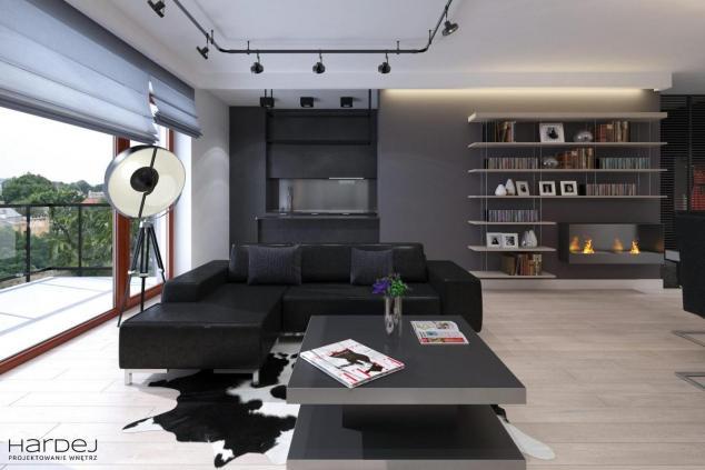 projekt wnętrza styl industrialny salon