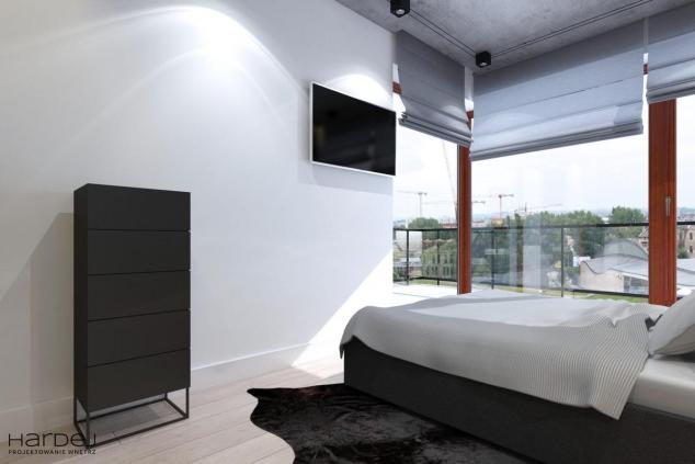sypialnia aranżacja jasna podłoga