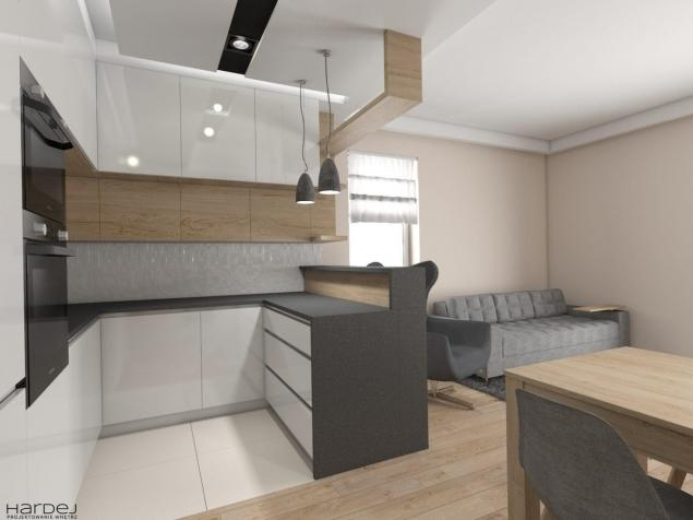 projekt kuchni styl skandynawski biała kuchnia