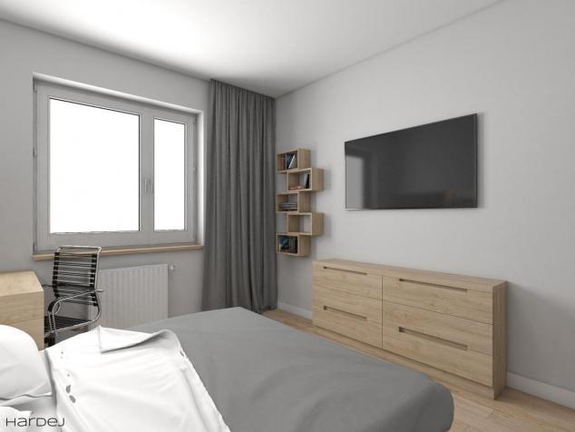 projekt wnętrza sypialnia styl skandynawski