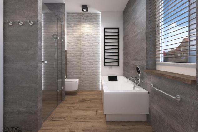 aranżacja łazienki szare kamienne płytki