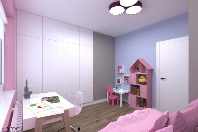 aranżacja pokój dla dziewczynki w kolorach różowych