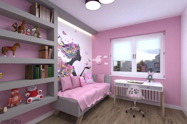aranżacja pokój dla małej dziewczynki różowy