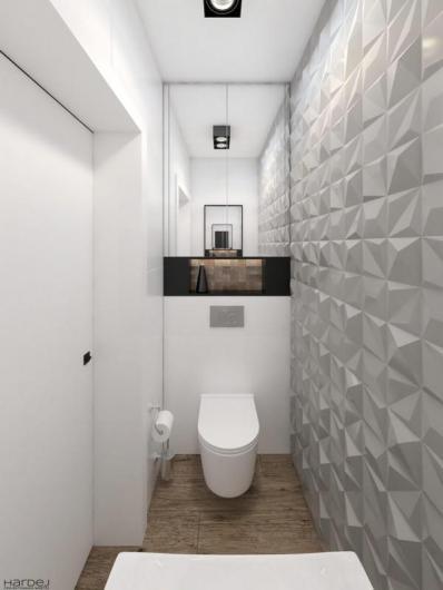 projekt łazienka biała lustro 2