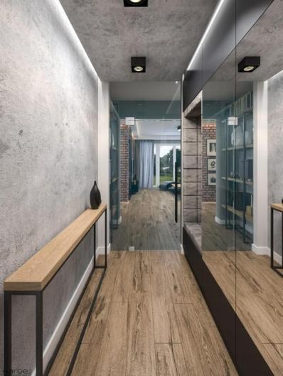 projekt wnętrza nowoczesny korytarz