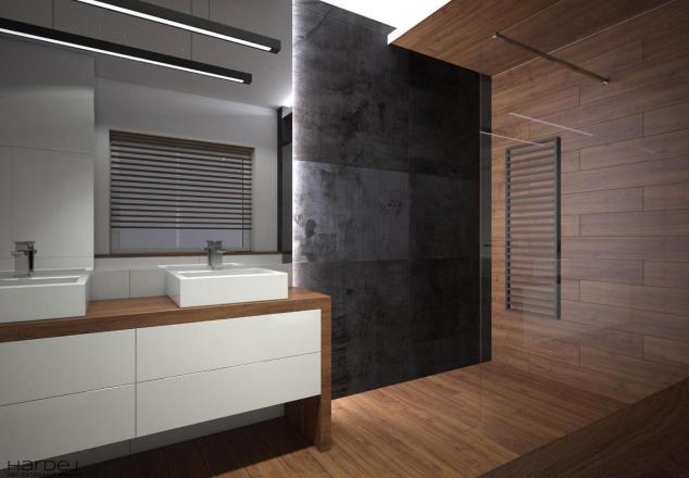 aranżacja otwarty prysznic styl nowoczesny