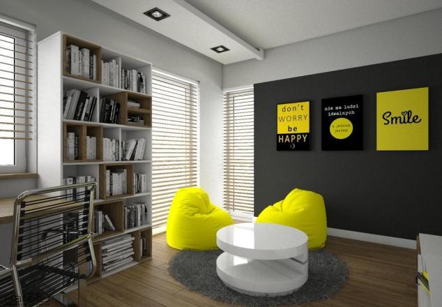 pokój dla chłopaka kolor żółty