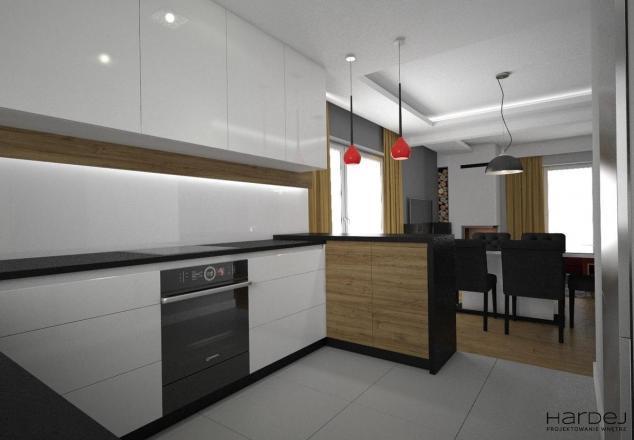 projekt kuchni białe szafki styl skandynawski