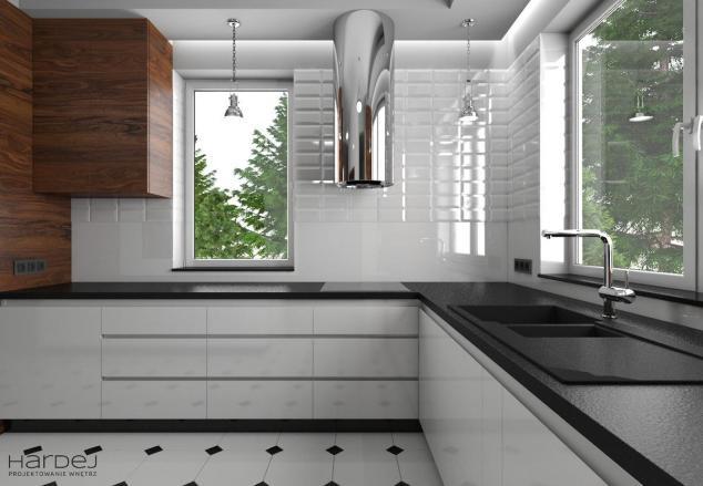 projekt otwarta kuchnia lampy industrialne