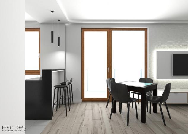 projekt wnętrz salon styl minimalistyczny