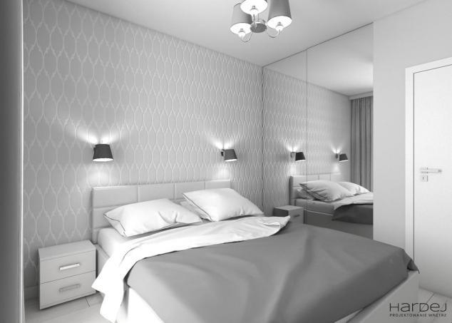 sypialnia jasne kolory szafa z lustrem