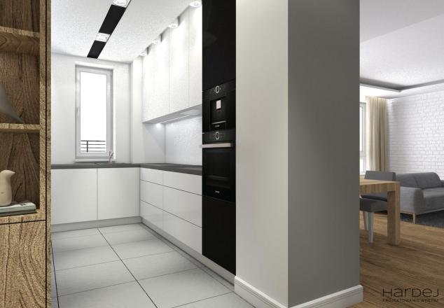 kuchnia biały lakier styl nowoczesny