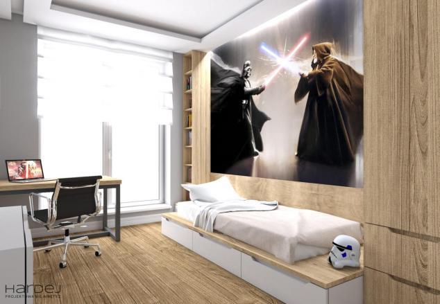 pokój dla nastolatka aranżacja star wars