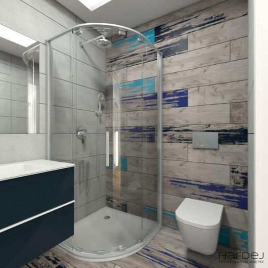 projekt wnętrza łazienki niebieskie elementy 2