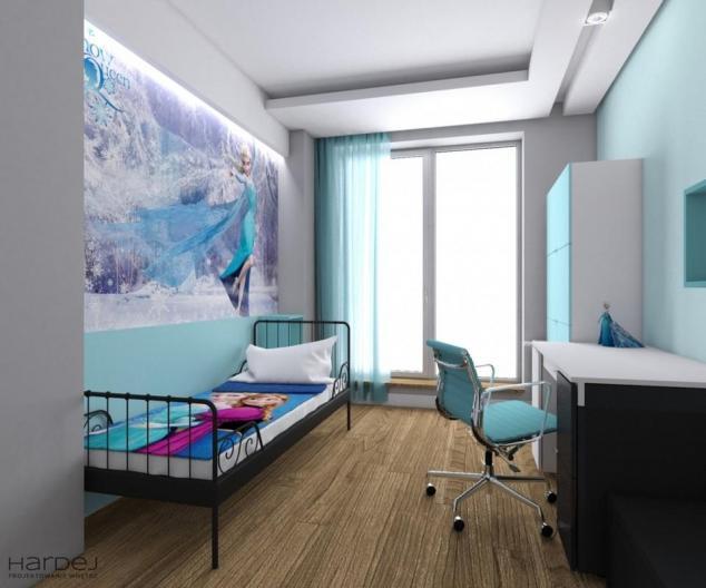 projekt wnętrza pokój dziecięcy niebieski