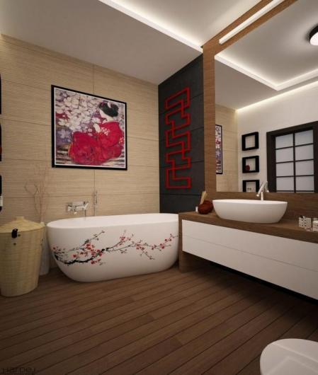 projekt wnętrza styl japoński 5