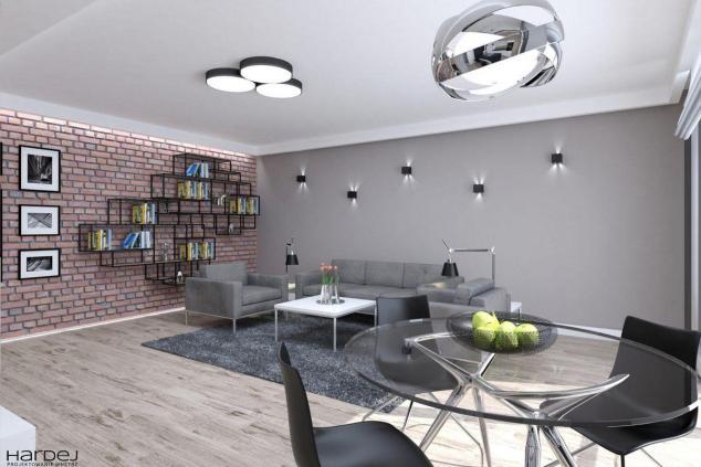 projekt industrialny salon