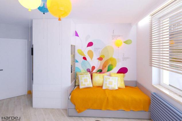 projekt pokoju dla dziewczynki z balonami