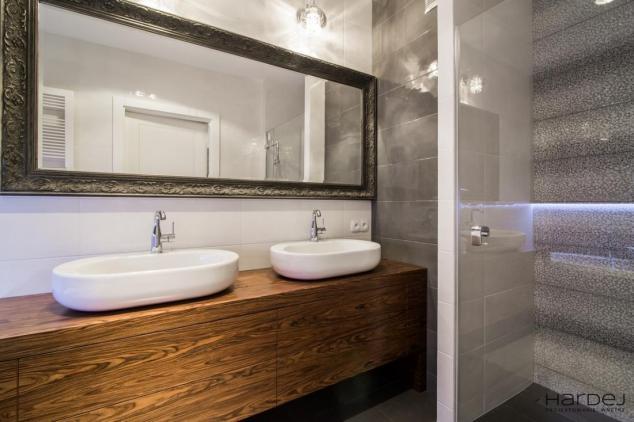 projekt wnętrz łazienka dwie umywalki