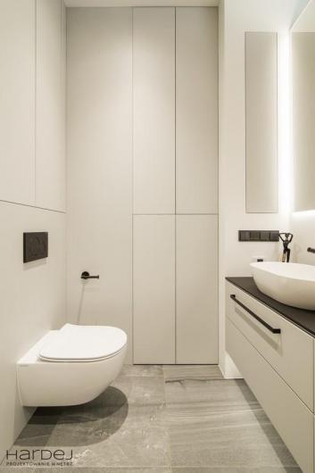 projekt wnętrza biała łazienka
