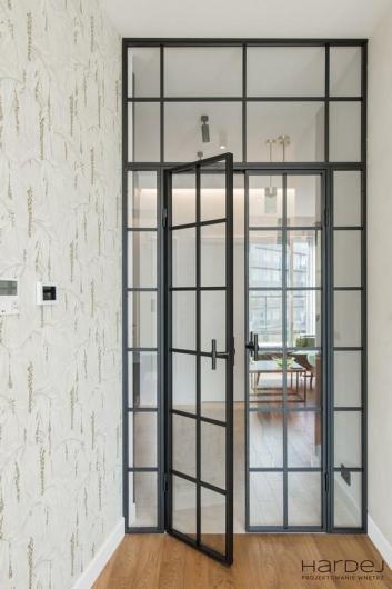 projekt wnętrza drzwi kratka