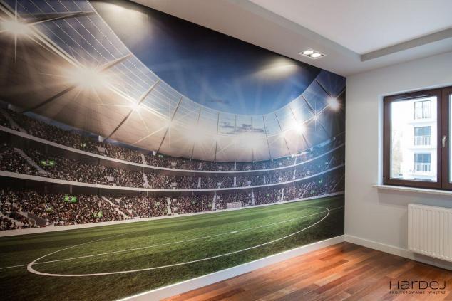 pokój dla nastolatka tapeta stadion