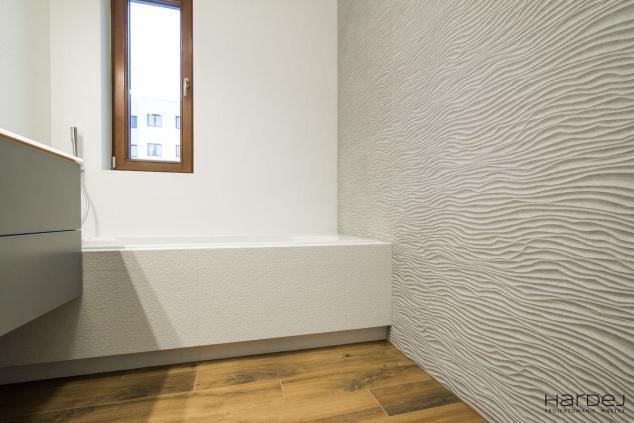 projekt łazienka płytka 3d na ścianie