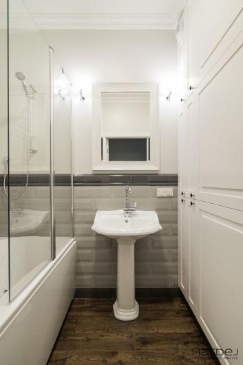 projekt łazienka umywalka stojąca stylizowana