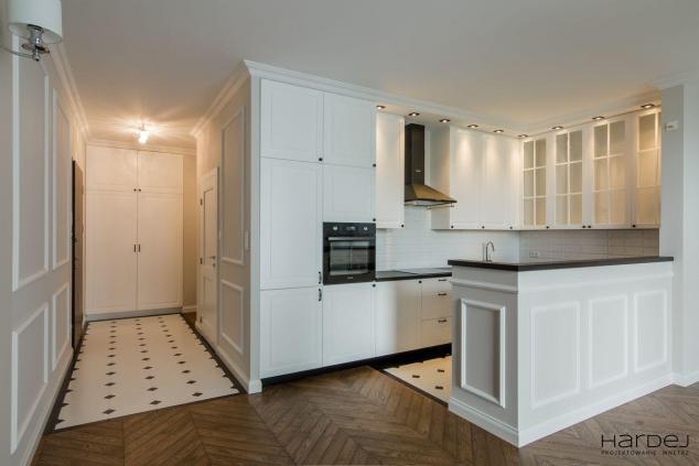 projekt styl angielski salon kuchni