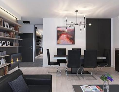 Apartament w stylu industrialnym