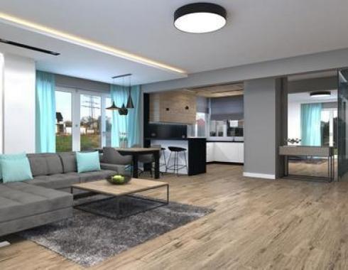 Dom styl industrialny